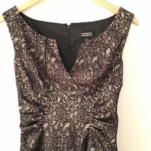 Adrianna Papell Dress, black lace, S 4